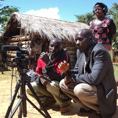 A group of community members in Malawi make a Participatory Video