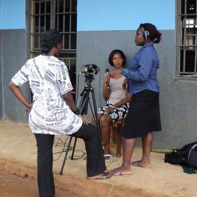 Three women in Uganda taking part in a PV MSC process