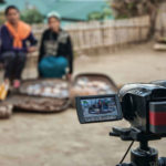 Two women in Nagaland are recorded with their traditional seeds, during a Participatory Video project