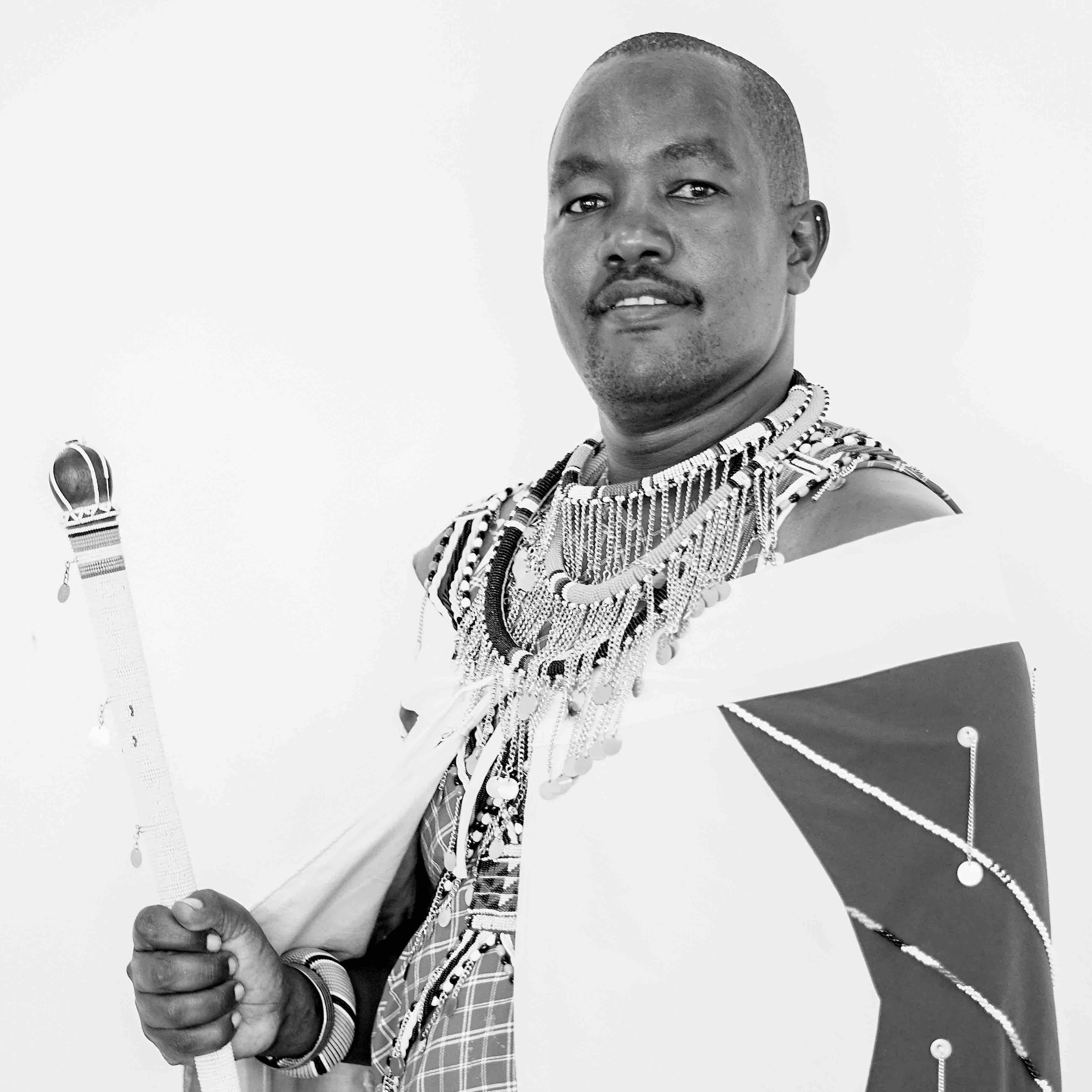 Portrait of Amos Leuka, Maasai Indigenous Activist from Kenya