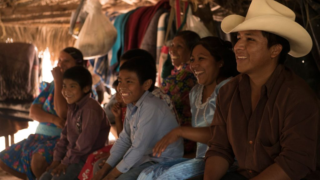 La Marabunta Filmadora's indigenous community members in Mexico enjoying a participatory videotraining