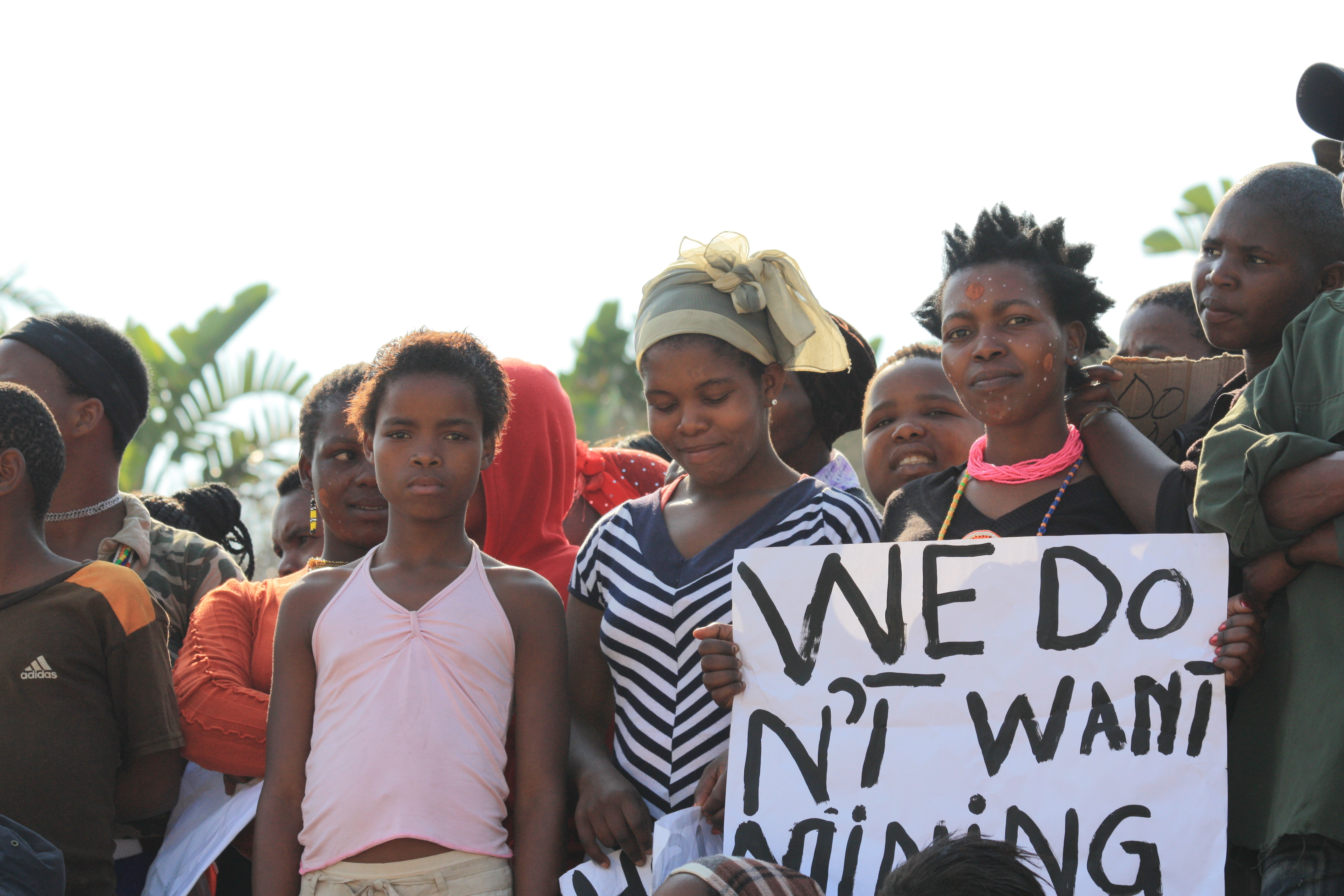 community amadiba protest against mining